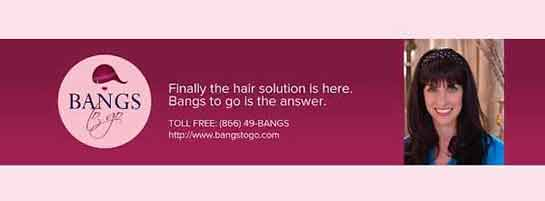 Bangs to Go social media graphic Vortex Business Solutions
