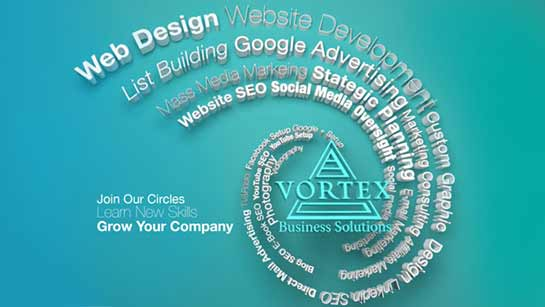 Vortex Business Solutions Web Design Social Media Graphics VBS