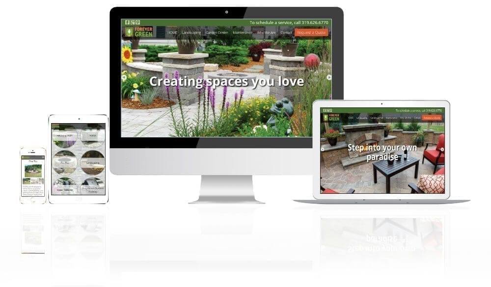 Vortex Business Solutions Web Design Iowa City Web Portfolio Forever Green Grows