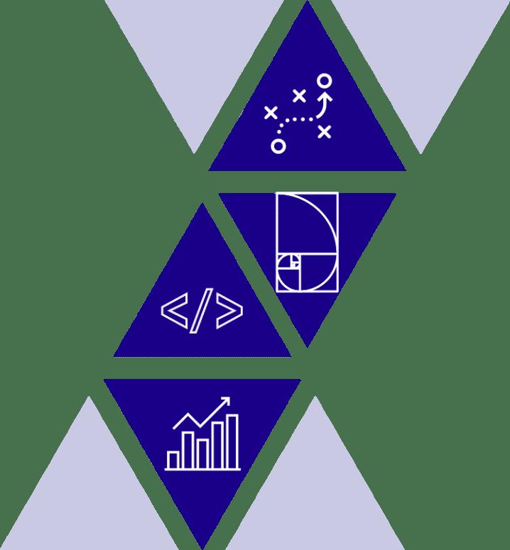 Vortex Business Solutions Web Design Iowa City four steps triangles
