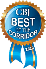 Vortex Digital Business Solutions Iowa City Cedar Rapids Corridor Business Journal CBJ Best of the Corridor 2019 badge